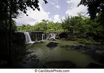 Tat Ton Waterfall at Chaiyaphum province in Thailand.