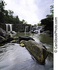 Tat Ton Waterfall at Chaiyaphum in Thailand. - Tat Ton...