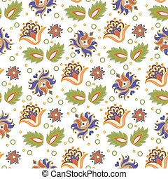 TATAR PATTERN Oriental Ornament Folk Ethnic Vector Illustration Seamless Pattern for Print, Fabric and Digital Paper.