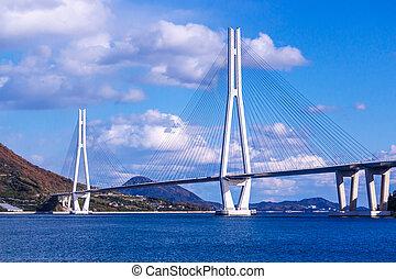Tatara Ohashi is the bridge between Ohmishima and Ikuchijima...