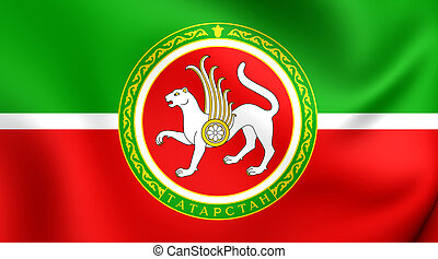 Tatarstan Flag, Russia. - Republic of Tatarstan Flag,...