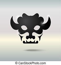 tatoeëren, bull., schedel
