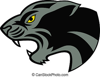 tatoeëren, hoofd, zwarte panther
