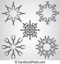 tatoeëren, keltisch, vector, communie, zon