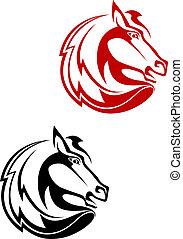 tatoeëren, paarde