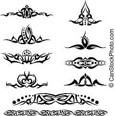 tatoeëren, ring, ontwerp