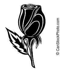 tatoeëren, roos