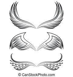 tatoeëren, van een stam, vleugels