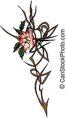 tatoo, símbolo, flor