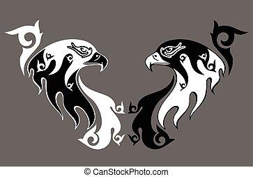 stylisé aigle image tatouage eagle image stylisé