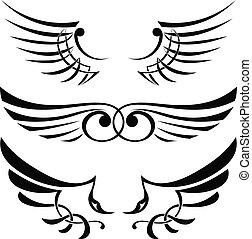 tatouage, ailes