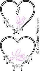 tatouage, amour, mot