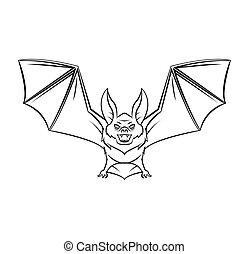 tatouage, chauve-souris, vecteur, illustration