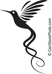tatouage, colibri