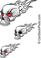 tatouage, crâne