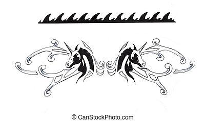 tatouage croquis indien bracelet art photographie de stock rechercher images et clipart. Black Bedroom Furniture Sets. Home Design Ideas