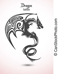 tatouage, dragon