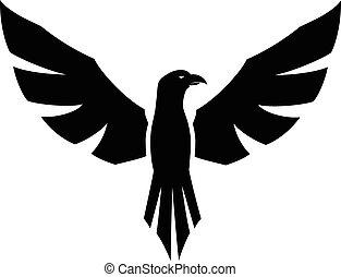 tatouage, faucon