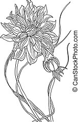 tatouage, fleur