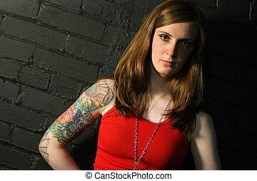 tatouage, girl