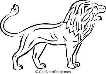 tatouage, lion