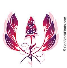 tatouage, modèle fleur