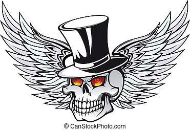tatouage, mort, crâne