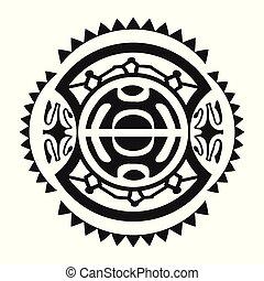 tatouage, style, maori, ornement, -, /, coutume, prêt, utilisé, polynésien, typon, impression, stencyl