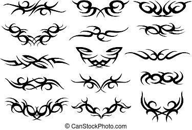 tatouage, symbole, conception