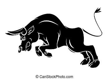 tatouage, taureau