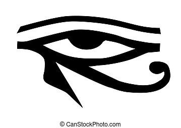 tatouage, tribal, oeil, horus