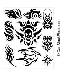 tatouage, vectors