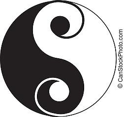 tatouage, yin-yang