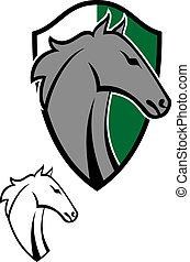 tatouages, cheval, dessin animé