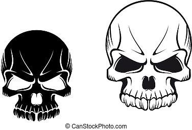 tatouages, crânes