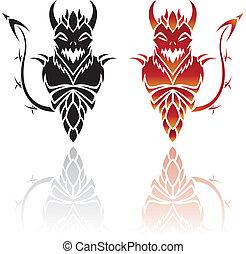 tatouages, diable