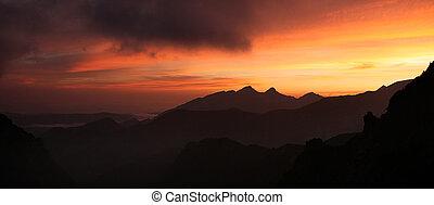 Tatra mountain at sunrise. Poland
