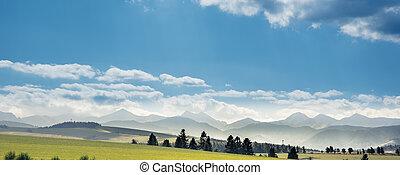 Tatra Mountains landscape in summer, Poland