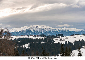 Tatra Mountains on a cloudy day