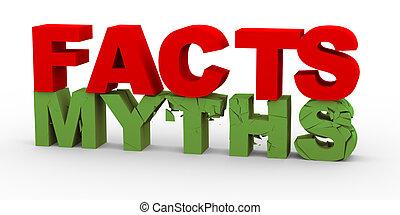 tatsachen, mythen, aus, 3d