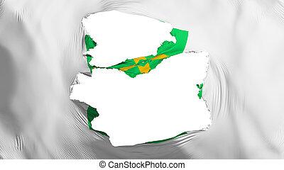 Tattered Brasilia flag - Tattered Brasilia, capital of ...