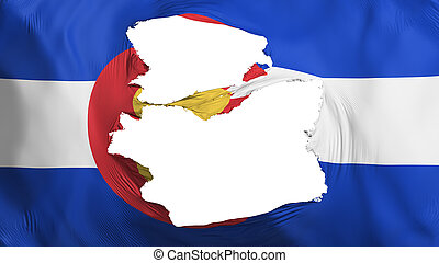 Tattered Colorado state flag