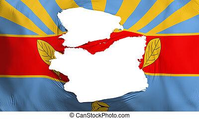 Tattered Harare capital flag