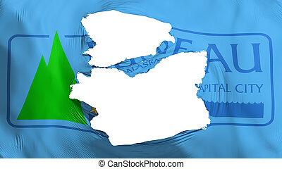 Tattered Juneau city capital flag - Tattered Juneau city, ...