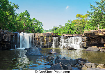 Tatton Waterfall, Chaiyaphum, Thailand. - Tatton Waterfall...
