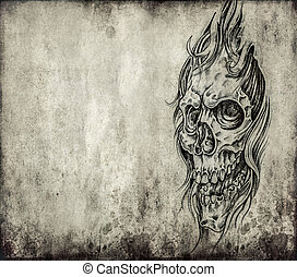 Tattoo art, death