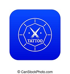 Tattoo art icon blue