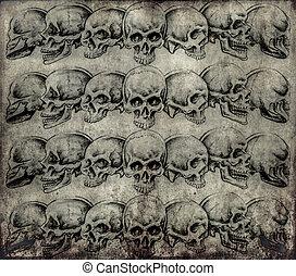 Tattoo art, skulls