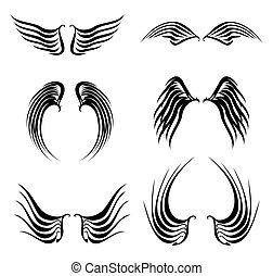 tattoo black wings set
