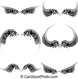 tattoo black wings set2